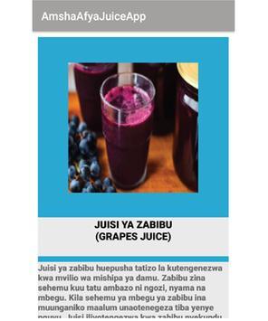 Amsha Afya JuiceApp poster