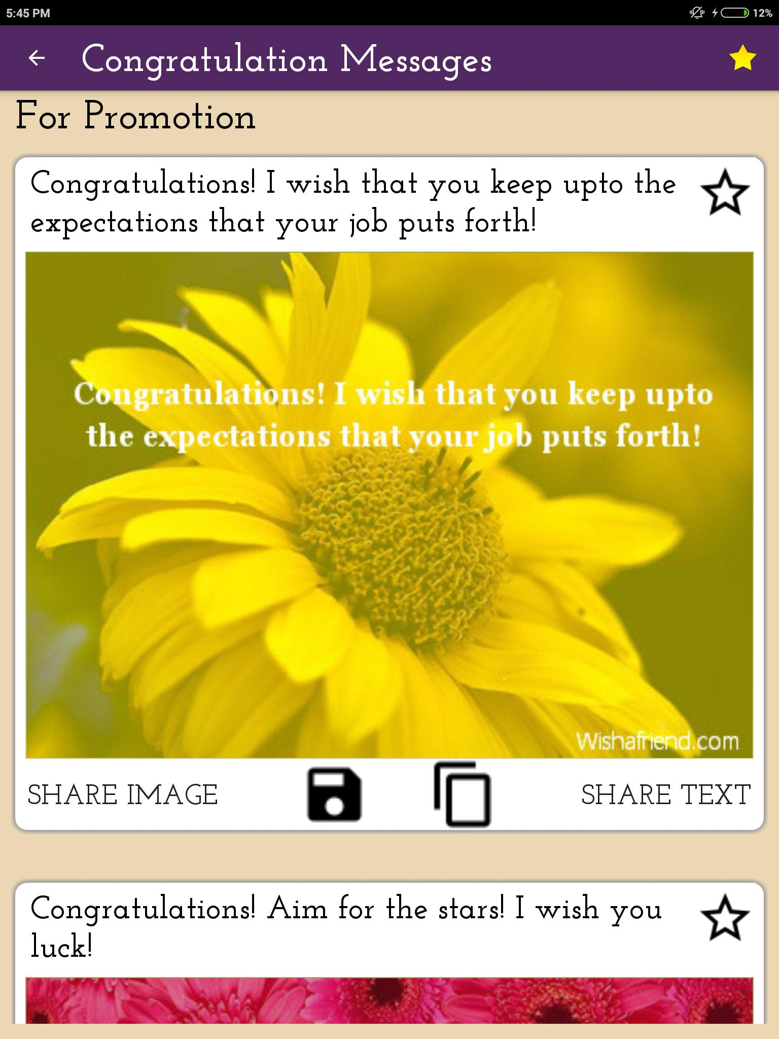 Congratulations Messages, Wishes & Quote Images for Android