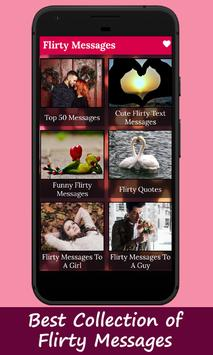 Romantic SMS Texts & Flirty Messages - Love Images poster