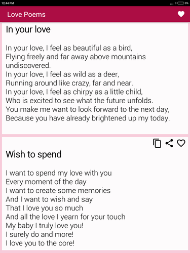 Beautiful Romantic Love Poems For Your Beloved Apk 23