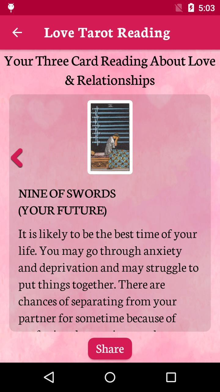 Tarot Card Reader - Free Love Horoscope Analysis for Android
