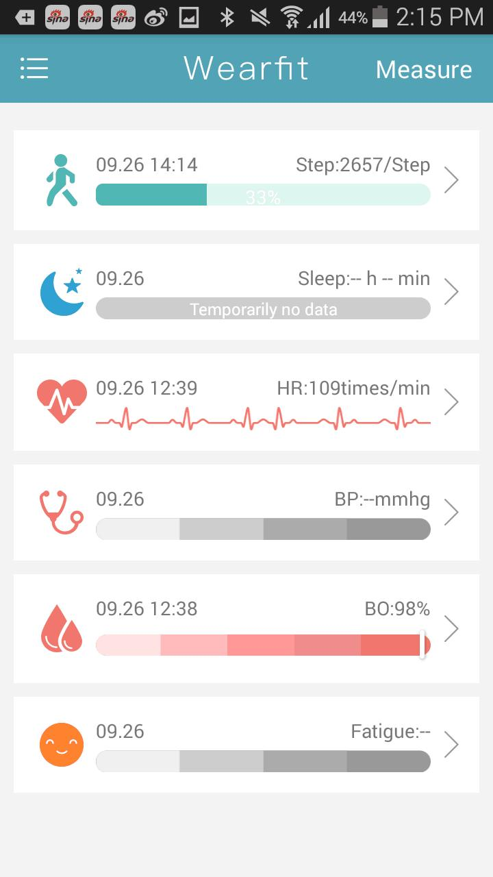 Wearfit para Android