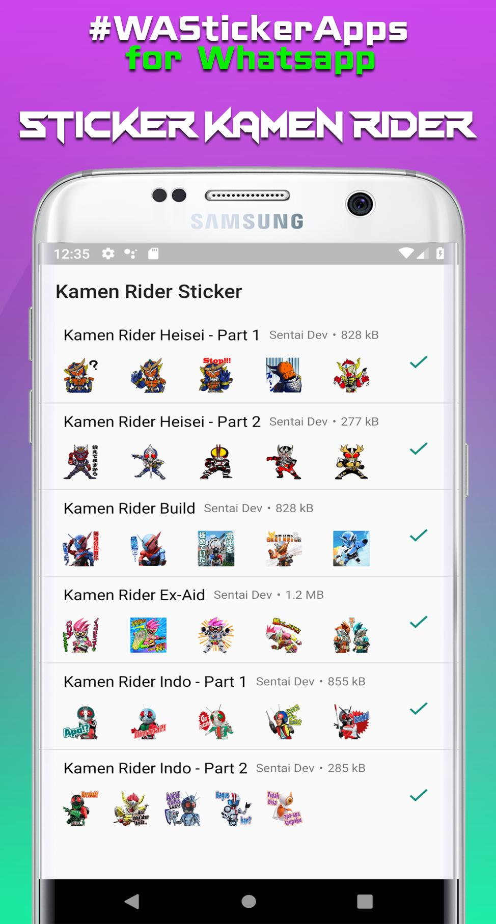 Sticker Henshin Masked Rider For Whatsapp For Android Apk