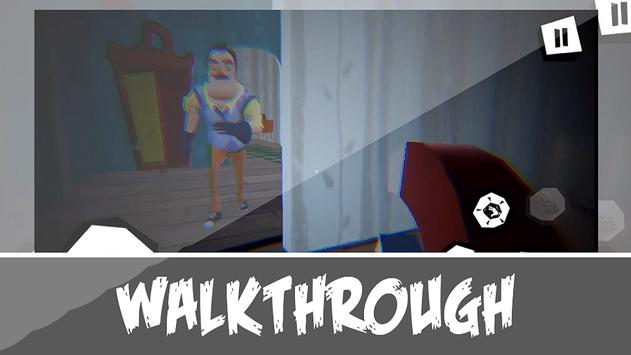 Poster Walkthrough Neighbor Game- Hello alpha Family Tips
