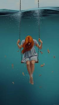 Sad Girl Wallpapers تصوير الشاشة 2