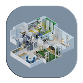 300 3d Home designs layouts icon
