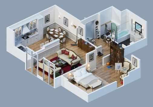 300 3d Home designs layouts screenshot 2