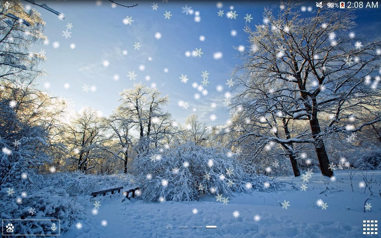 Winter-Schnee Live Wallpaper für Android - APK herunterladen