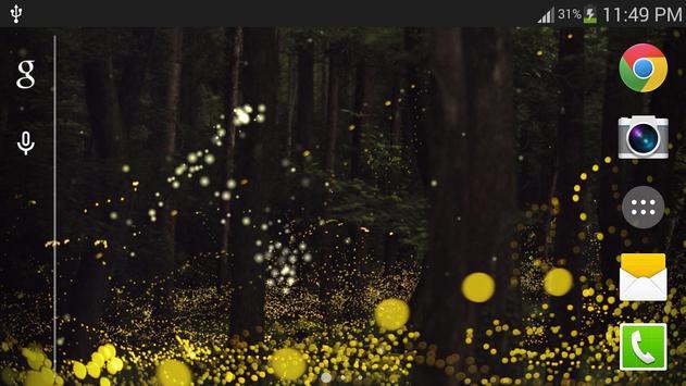 Forest Firefly live wallpaper screenshot 5