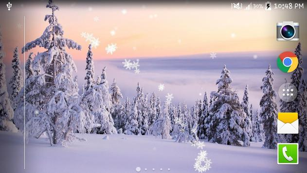 Winter Snow Live Wallpaper HD screenshot 2