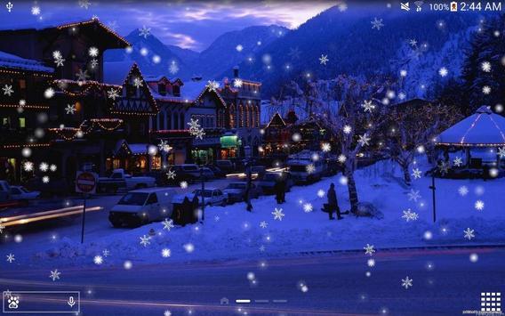 Snow Night City live wallpaper screenshot 14