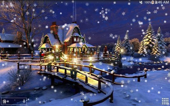 Snow Night City live wallpaper screenshot 18