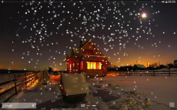 Snow Night City live wallpaper screenshot 11