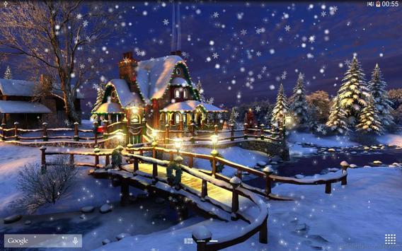 Snow Night City live wallpaper screenshot 12