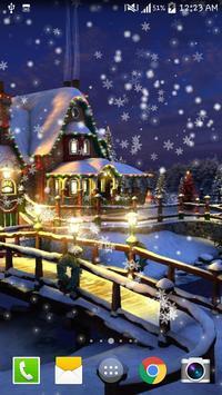 Snow Night City live wallpaper screenshot 3