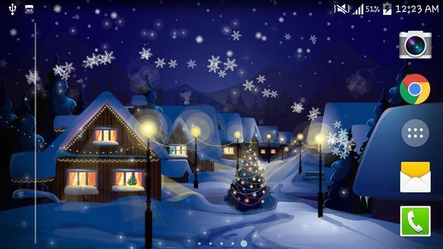 Snow Night City live wallpaper screenshot 5
