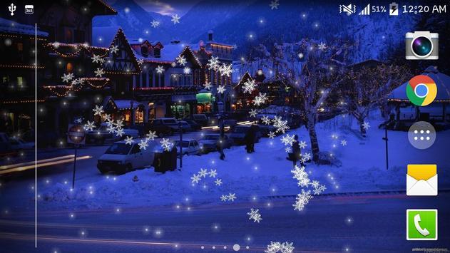 Snow Night City live wallpaper screenshot 7