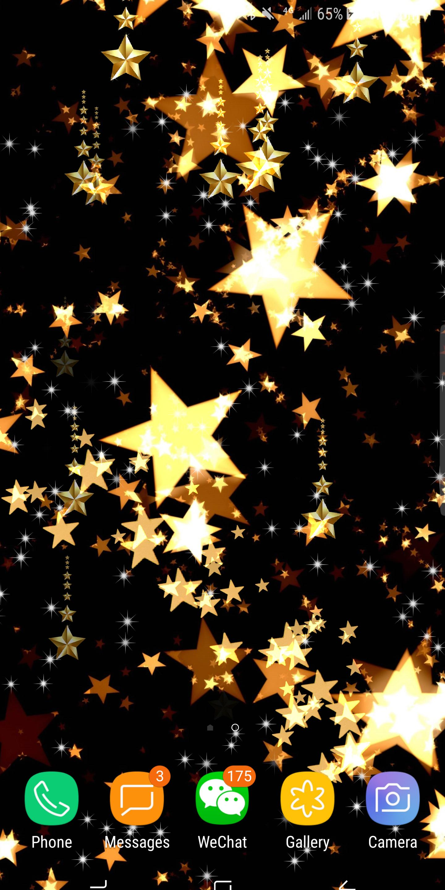 Gold Stars Shining Live Wallpaper Free For Android Apk