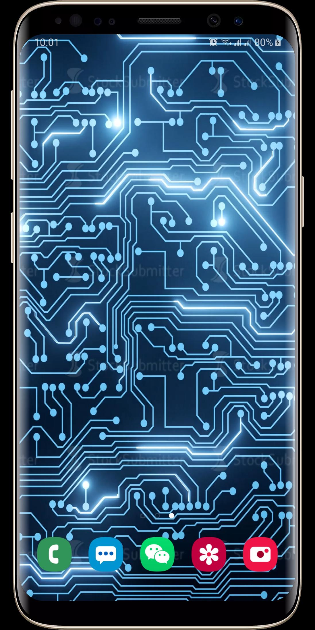 Digital Circuit Board Animation Live Wallpaper For Android Apk Download