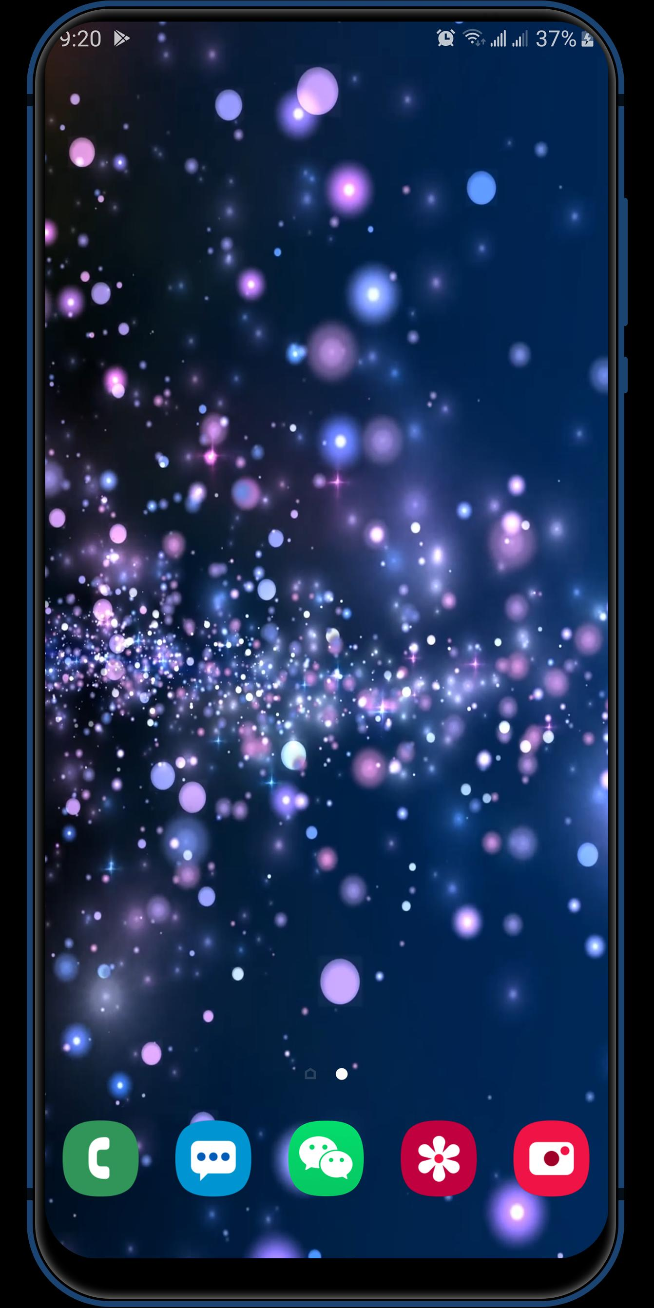 3d Shining Blue Lasers Particles Live Wallpaper For Android