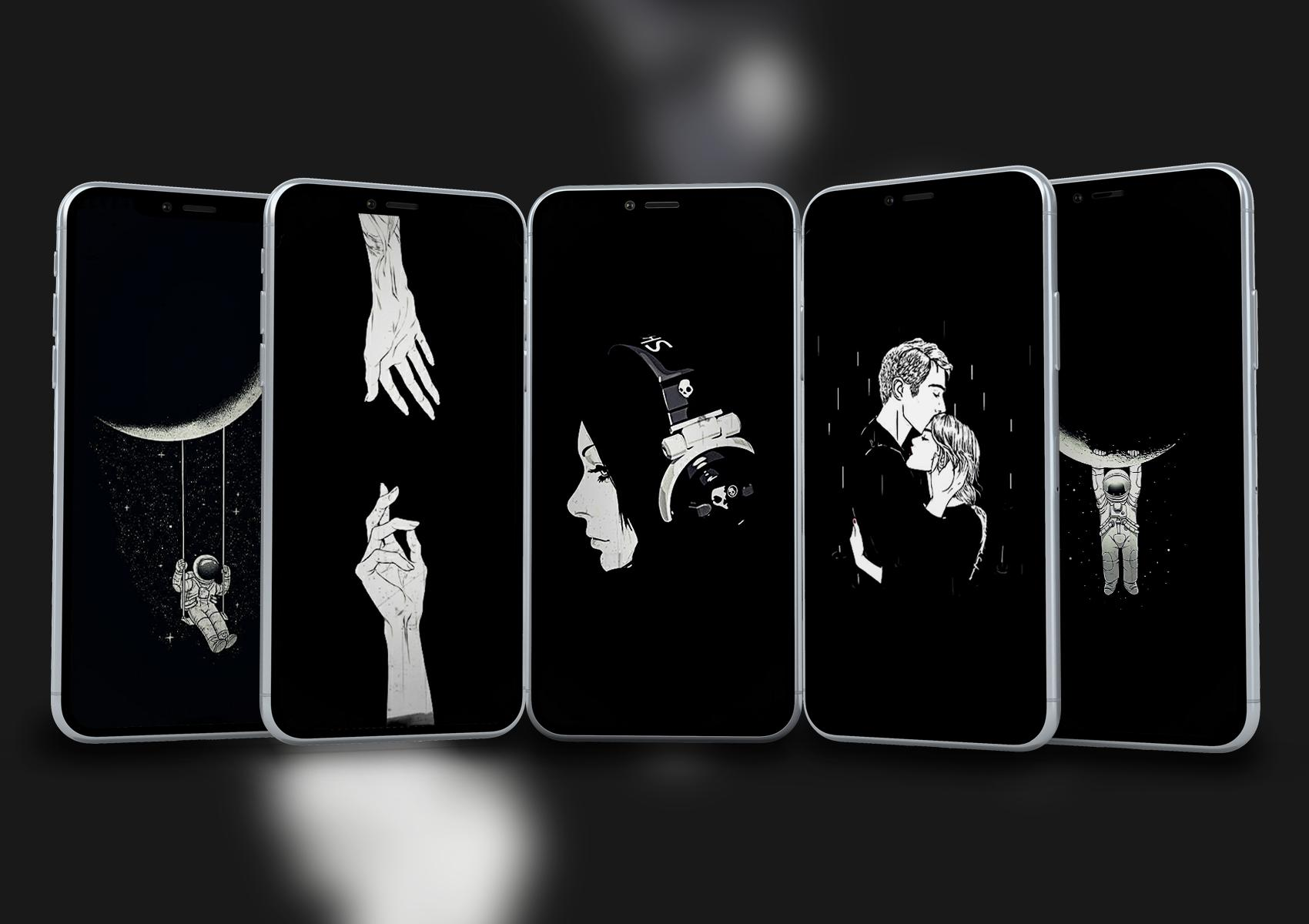 black aesthetic wallpaper for android