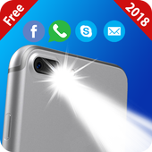 Flash on call and sms:Bright flashlight alert 2020 图标