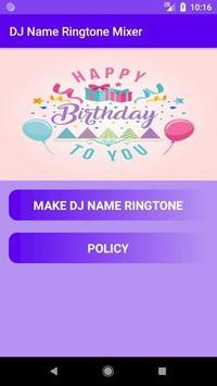 DJ Name Ringtone Mixer screenshot 1