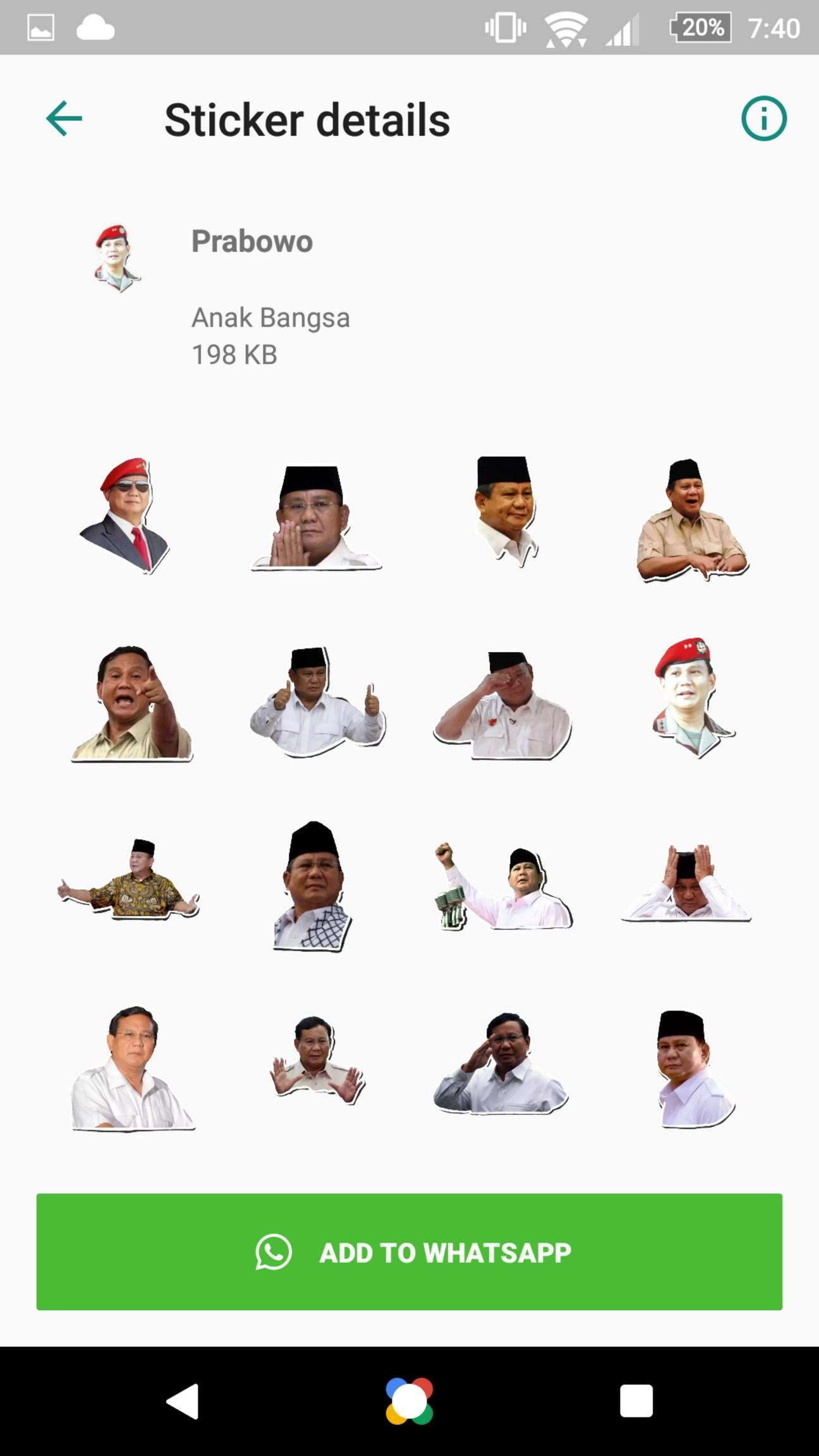 Prabowo Sticker Pack For Android Apk Download