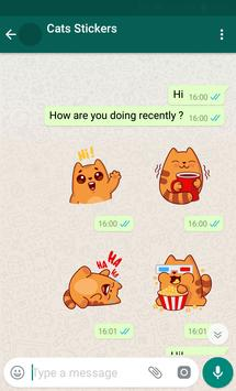 New WAStickerApps 😻 Cat Stickers For Chat screenshot 1