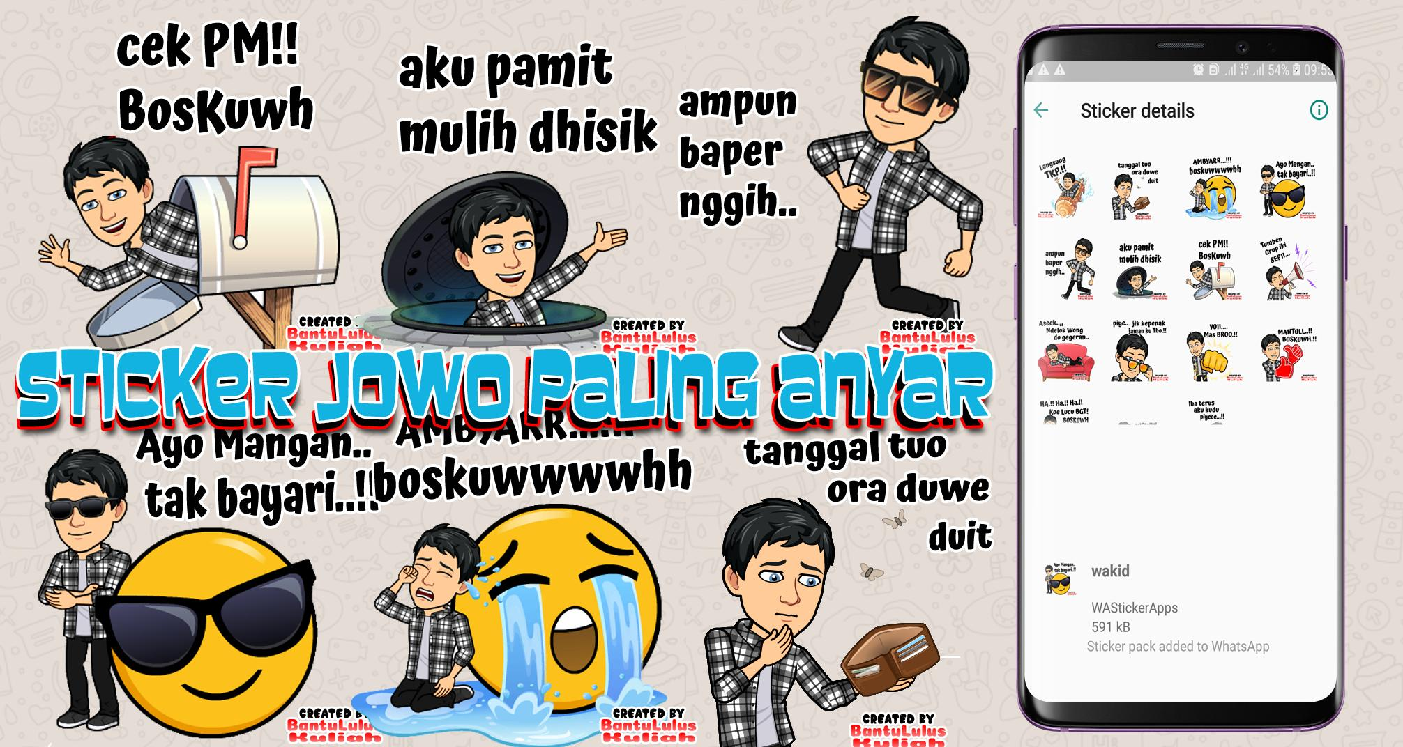 Stiker Lucu Bahasa Jawa WAStickerApps For Android APK