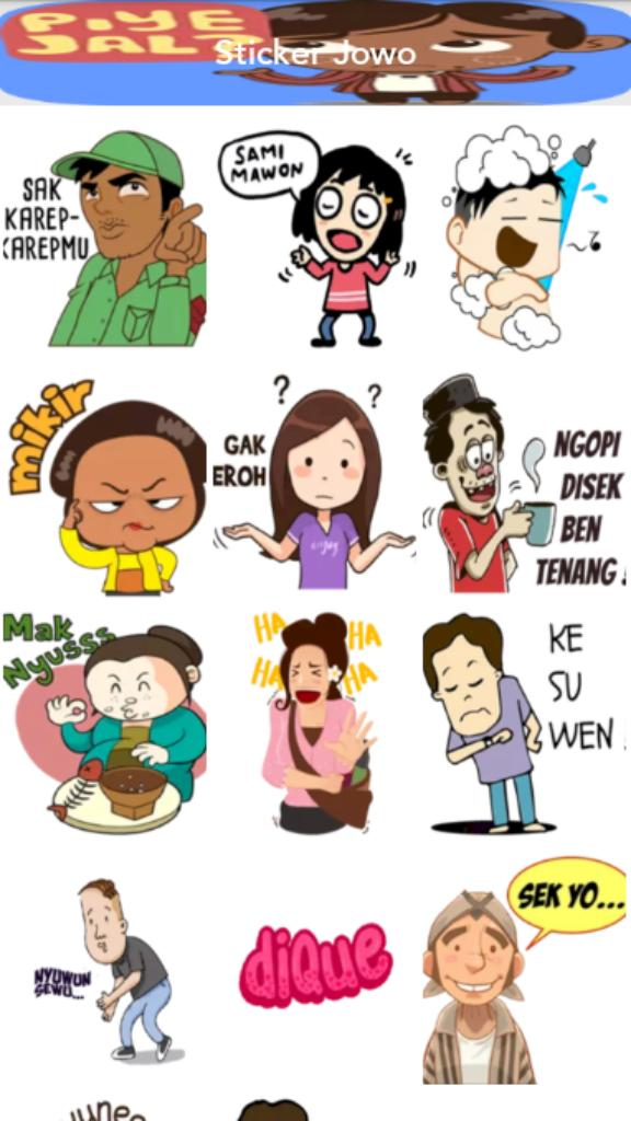 Wastickerapps Stiker Bahasa Jawa Lucu For Android Apk Download