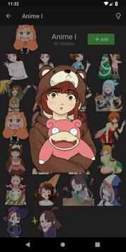 Anime Kawaii Stickers for WhatsApp - WAStickerApps screenshot 18
