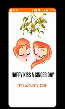 Kiss A Ginger Day Sticker screenshot 3
