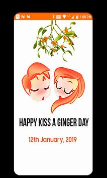 Kiss A Ginger Day Sticker poster