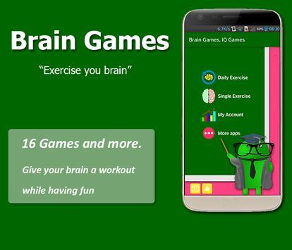 Brain Exercise Games - IQ test screenshot 1