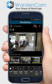 Home Security Camera WardenCam - reuse old phones screenshot 1