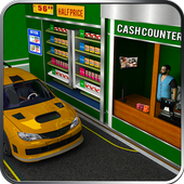 Drive Thru Supermarket: Shopping Mall Car Driving icon