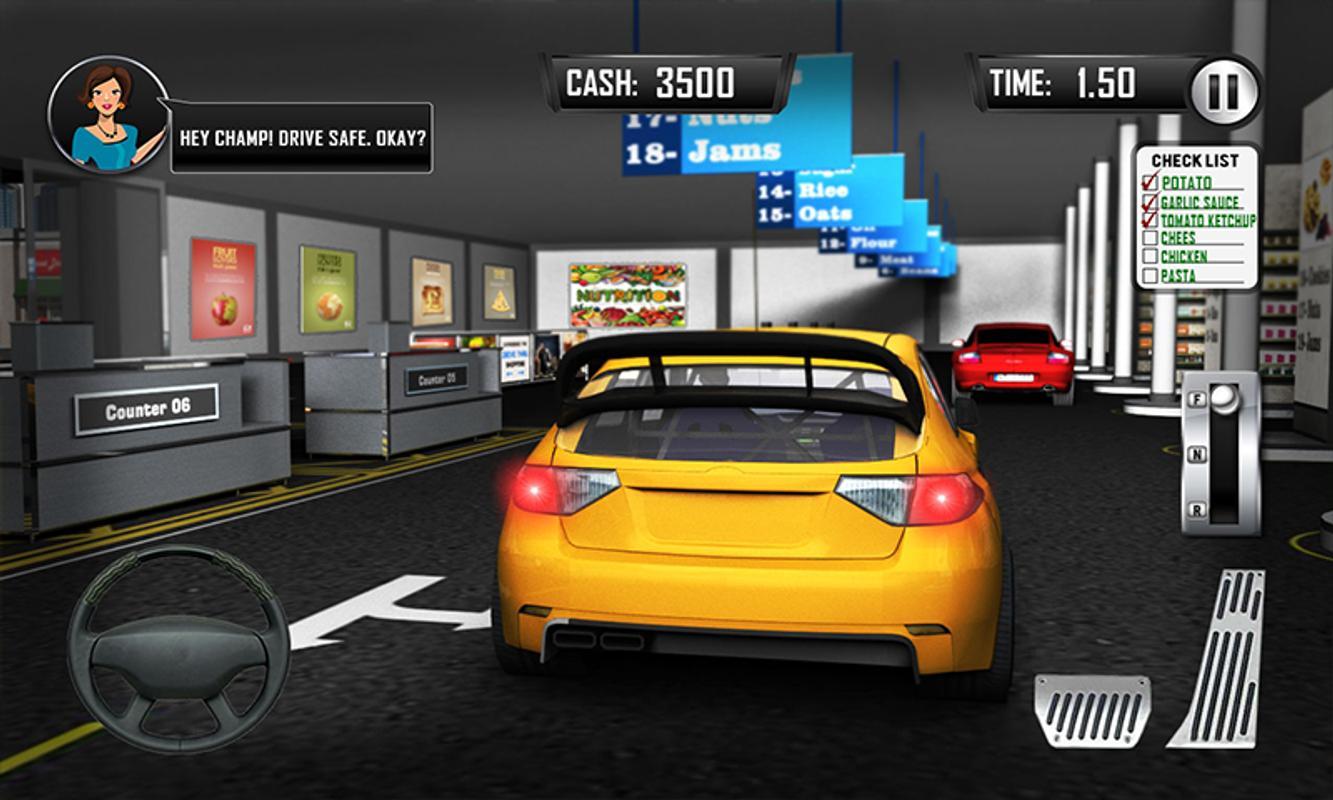 Drive Thru Supermarket Ping Mall Car Driving Screenshot 2
