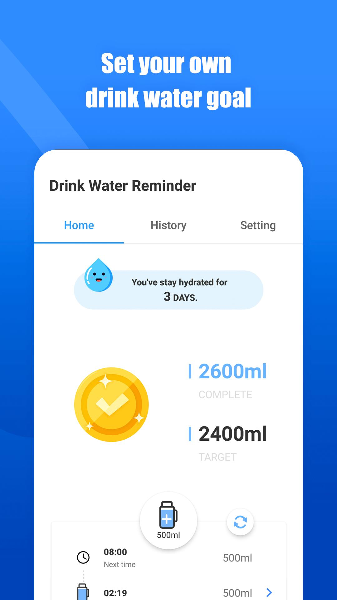 Drink Water Reminder: hydration app for Android - APK Download