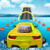 Water Surfing Car Stunts أيقونة