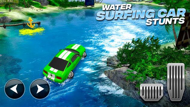 Water Surfing Car Stunts تصوير الشاشة 8