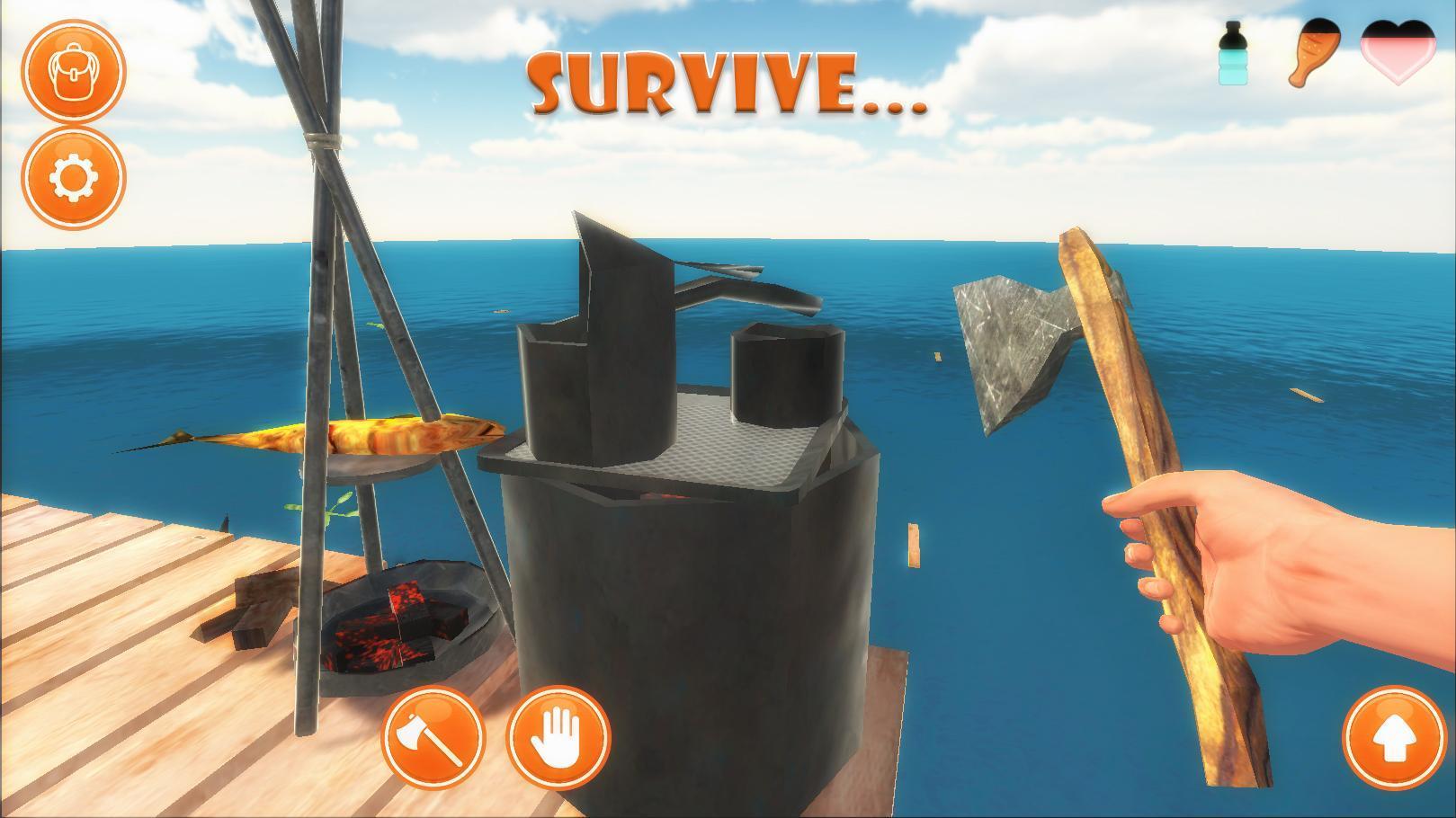 Raft Survival Simulator para Android - APK Baixar