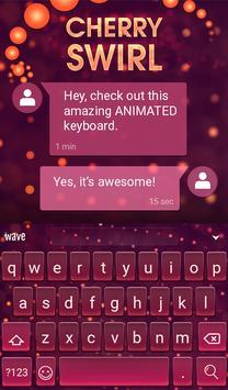Cherry Swirl Animated Keyboard screenshot 2