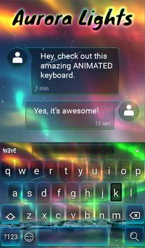 Aurora Light Animated Keyboard + Live Wallpaper screenshot 2