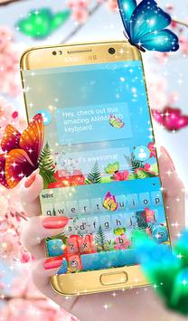 Butterflies Animated Keyboard + Live Wallpaper poster