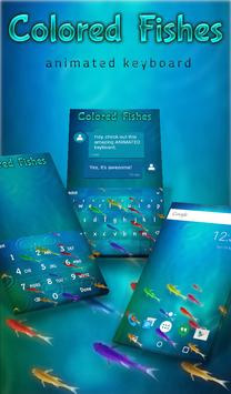Colored Fishes Animated Keyboard + Live Wallpaper poster
