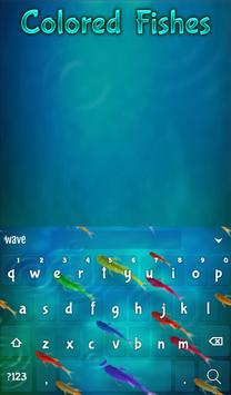 Colored Fishes Animated Keyboard + Live Wallpaper screenshot 1