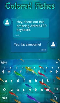 Colored Fishes Animated Keyboard + Live Wallpaper screenshot 2