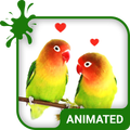 Lovebirds Animated Keyboard + Live Wallpaper