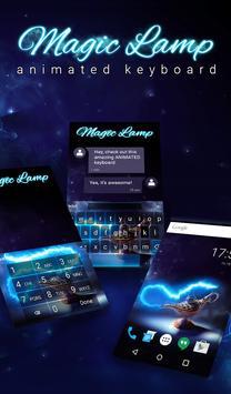 Magic Lamp Animated Keyboard + Live Wallpaper poster